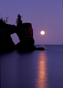 Lake Superior Moonrise 009