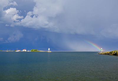Storm Over Grand Marais Harbor 003