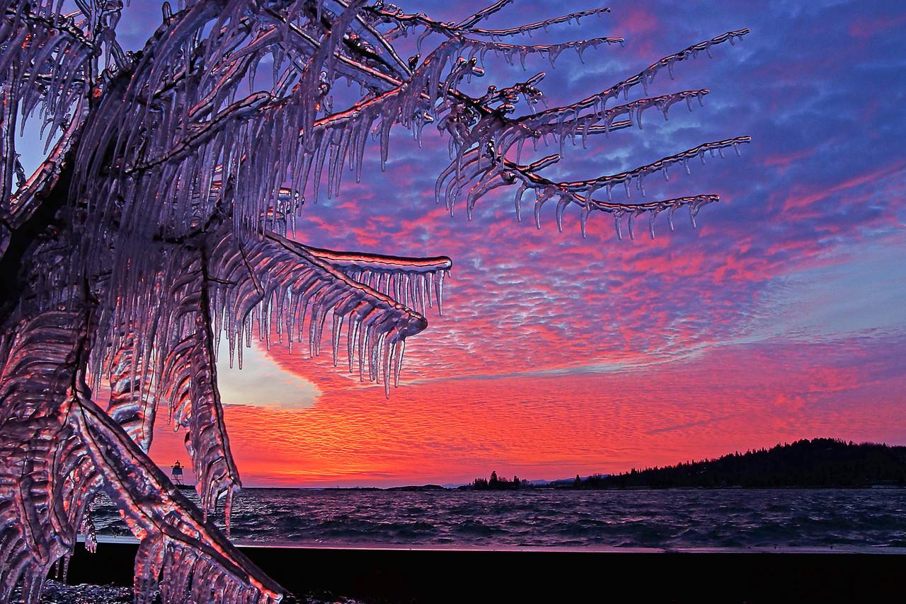 Grand Marais Harbor Sunset 001