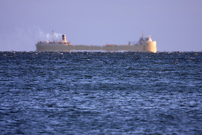 "SUPERIOR BOATS 2861  ""A great lakes freighter steaming past Grand Portage Bay on its way to Duluth"""