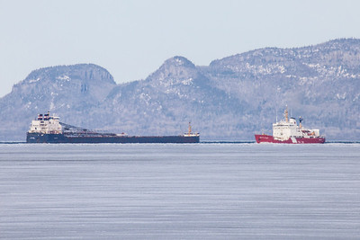 "SUPERIOR BOATS 5121  ""May Icebreaking Operations in Thunder Bay""  Photographed from Fort William First Nation on May 7, 2014 - Ontario, Canada"