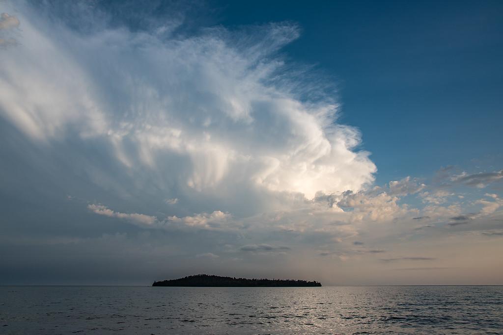 "SUPERIOR FALL 3100<br /> <br /> ""September Storm over Grand Portage Bay""<br /> <br /> Grand Portage, MN"