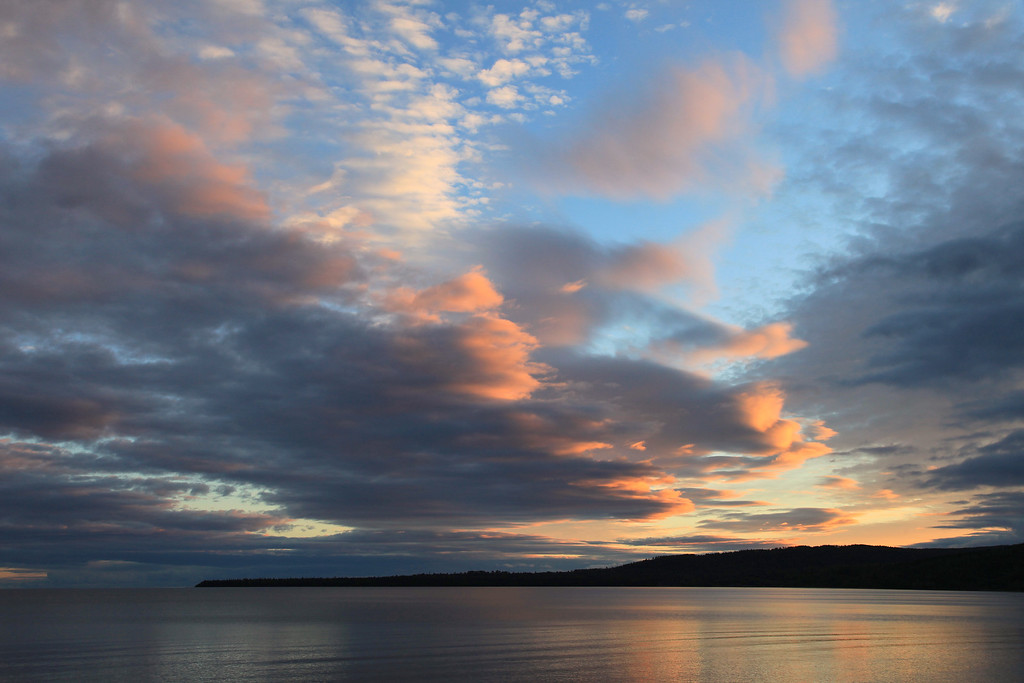 "SUPERIOR FALL 5280<br /> <br /> ""Autumn Sunset, Grand Portage Bay"""