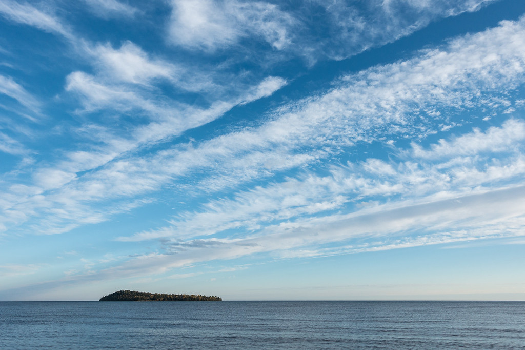 """SUPERIOR FALL 06757<br /> <br /> """"October Sky over Pete's Island""""<br /> <br /> Grand Portage, MN"""