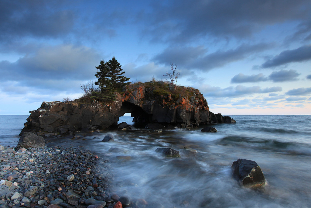"SUPERIOR FALL 8299<br /> <br /> ""End of October at Hollow Rock"""