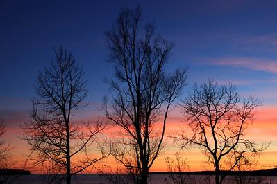 "SUPERIOR FALL 9374  ""November Sunset, Grand Portage Bay"""