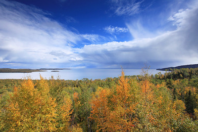 "SUPERIOR FALL 5692  ""Early autumn colors on Wauswaugoning Bay"""