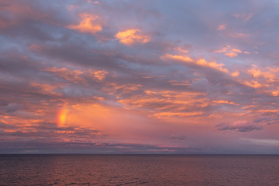 """Mini Rainbow at Sunset on Lake Superior"""