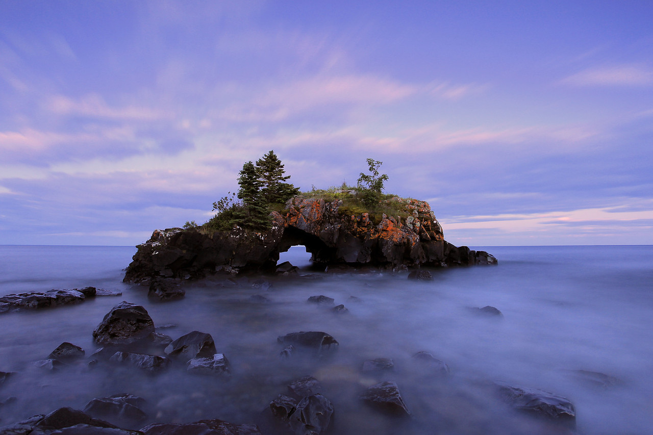 "SUPERIOR SUMMER 8060<br /> <br /> ""Summer's Eve at Hollow Rock"""
