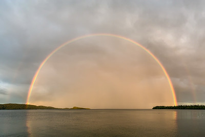 """Double Rainbow, Grand Portage Bay"""