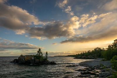 """Early September Lake Superior Sunset"""