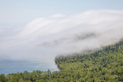 "SUPERIOR SUMMER 5093  ""Fog bank rolling over Mt. Josephine""  June 6, 2014"