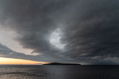 """Storm clouds over Grand Portage Bay"""