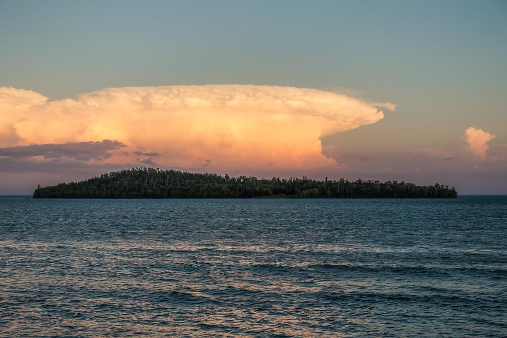 "SUPERIOR SUMMER 05924<br /> <br /> ""Mushroom Cloud over Pete's Island<br /> <br /> Grand Portage, MN"