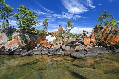 """Pigeon Bay Rock Arch"""