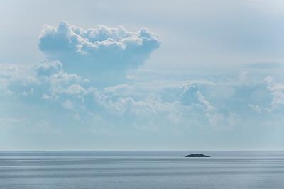 "SUPERIOR SUMMER 00515  ""Summer Clouds over Five Mile Rock""  Near Grand Marais, MN"