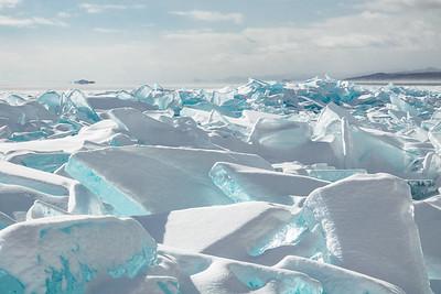 """Lake Superior Ice - Five Mile Rock"""