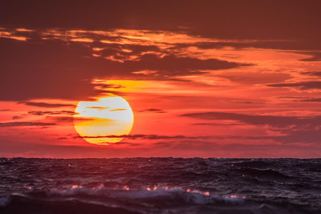 "SUPERIOR WINTER 6466<br /> <br /> ""Sunset on Superior""<br /> <br /> Grand Marais, MN"