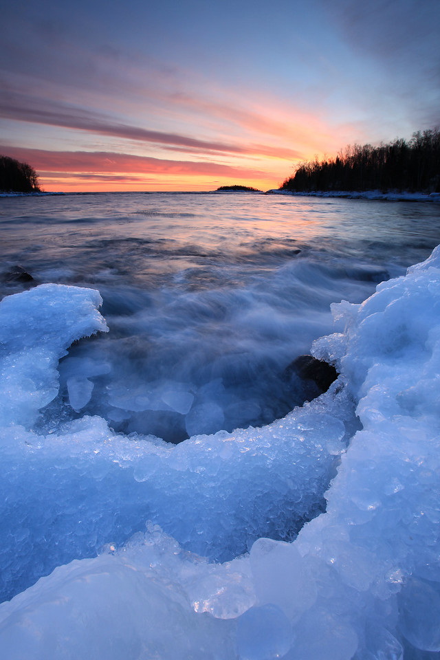 "SUPERIOR WINTER 5298<br /> <br /> ""Icy Sunset, Pancake Bay"""
