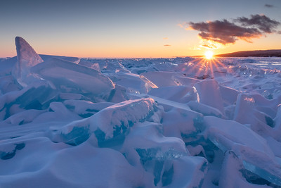 """Icy Sunset on Lake Superior"""