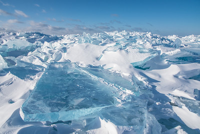 "SUPERIOR WINTER 0540  ""Beautiful Blue - Lake Superior Ice Field"""