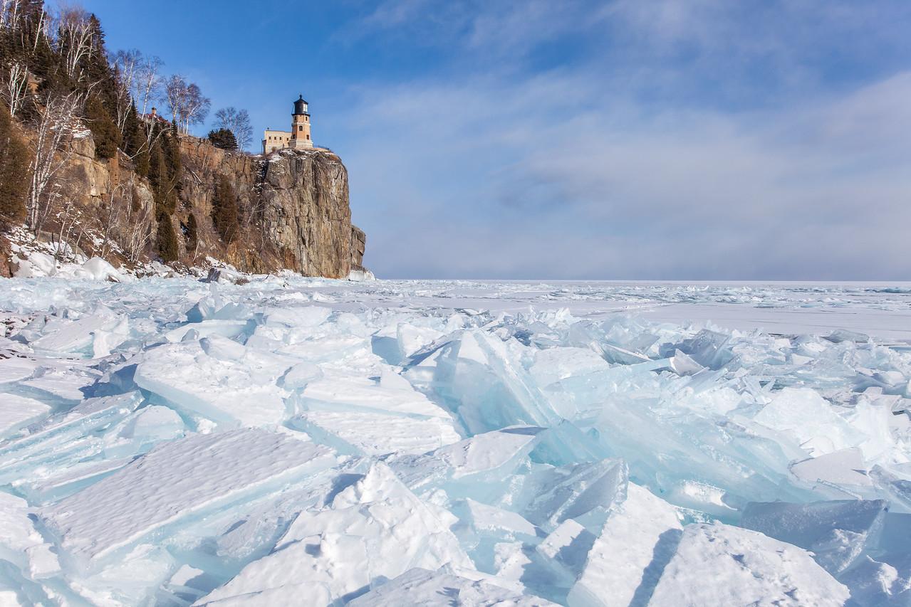 """SUPERIOR WINTER 2036<br /> <br /> """"Split Rock Ice""""<br /> <br /> Split Rock Lighthouse State Park, MN"""