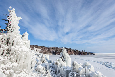 "SUPERIOR WINTER 1890  ""Icy Wonderland at Crystal Bay""  Tettegouche State Park, MN"