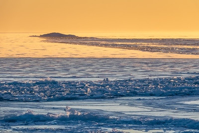"""""""Evening Light and Ice at Five Mile Rock"""""""