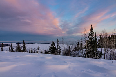 """Winter Sunset from Mt. Josephine"""