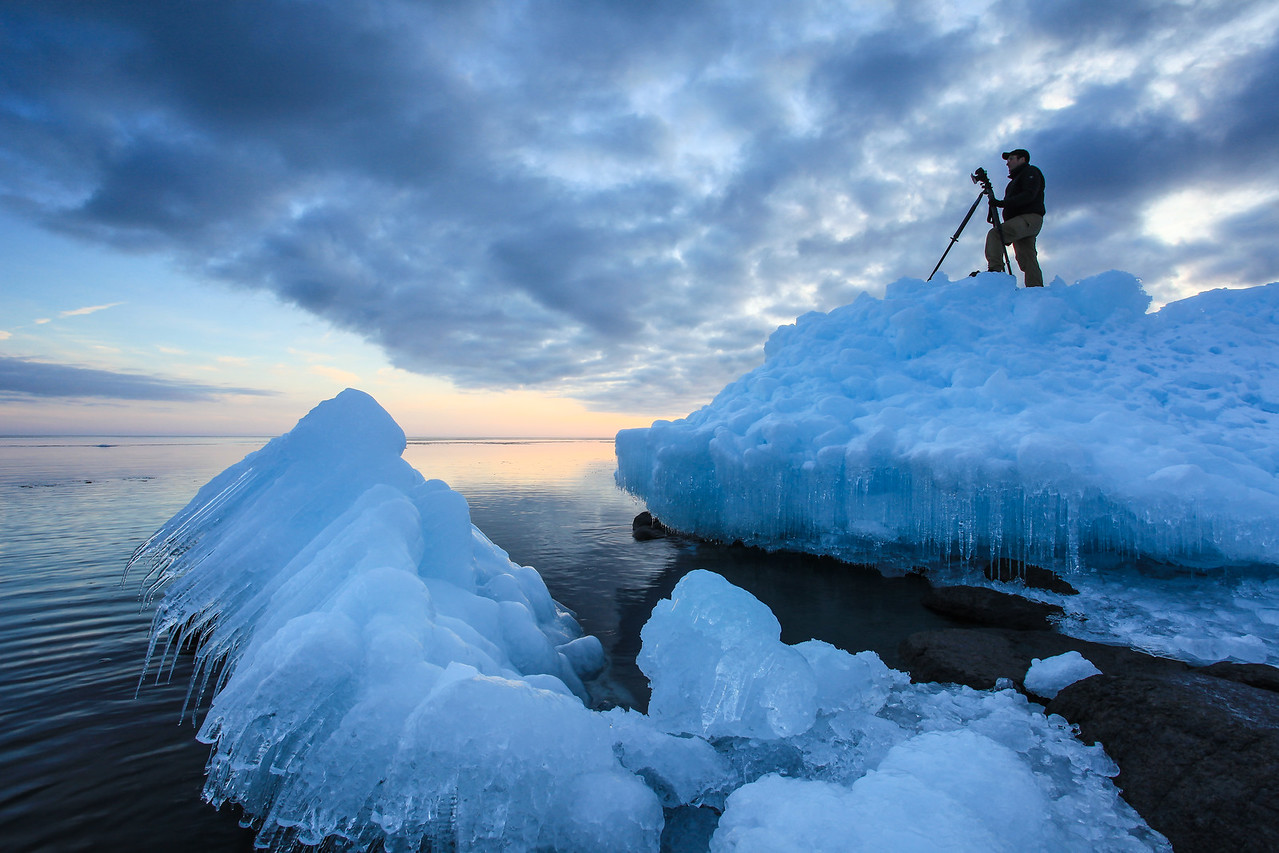 "SUPERIOR WINTER 1107<br /> <br /> ""Photographing the Lake Superior Ice Mountains"""