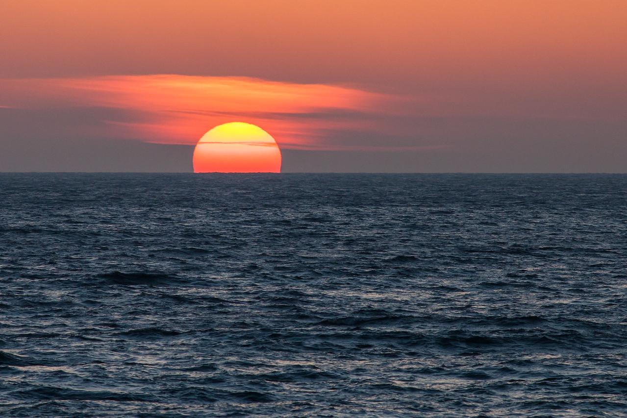 "SUPERIOR WINTER 1241<br /> <br /> ""December Sunset over Lake Superior"""