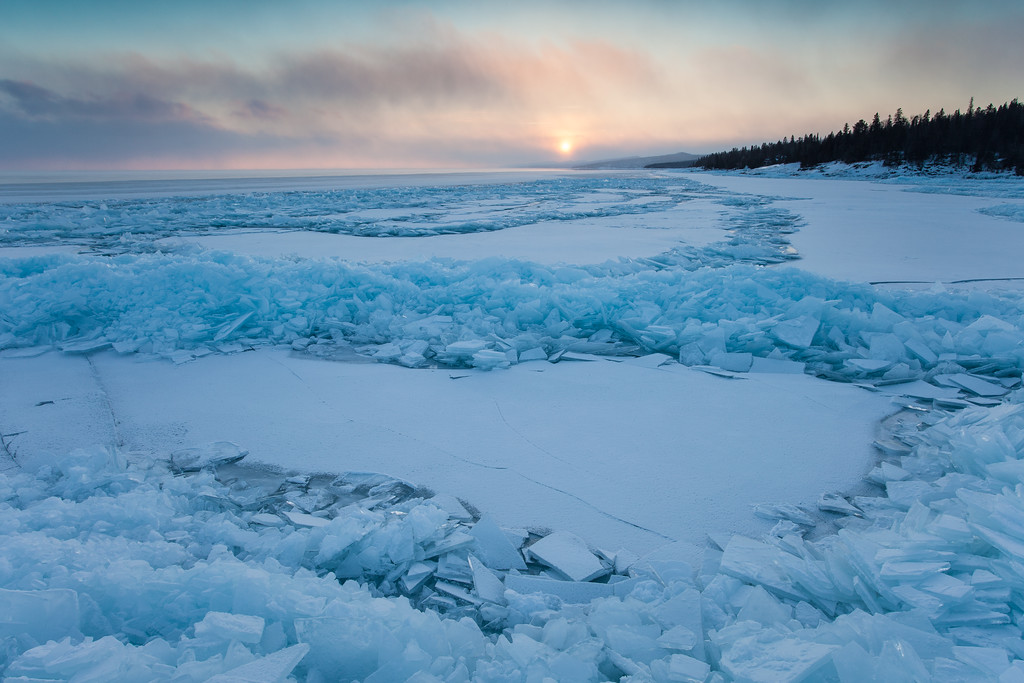 "SUPERIOR WINTER 2073<br /> <br /> ""The end of a beautiful day""<br /> <br /> Grand Marais, MN"