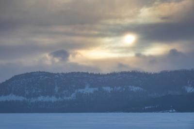 """Late winter sunset over Mt. Josephine"""