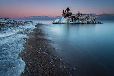 """Quiet Winter Evening at Hollow Rock"""