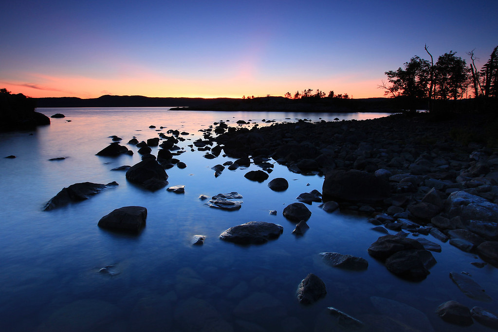 "SUSIE ISLANDS 3522<br /> <br /> ""Rocky cove sunset, Lucille Island"""