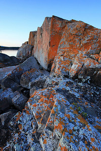 "SUSIE ISLANDS 3654  ""Lichen-covered rocks, Lucille Island"""