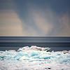 Blue Ice And Water Spouts
