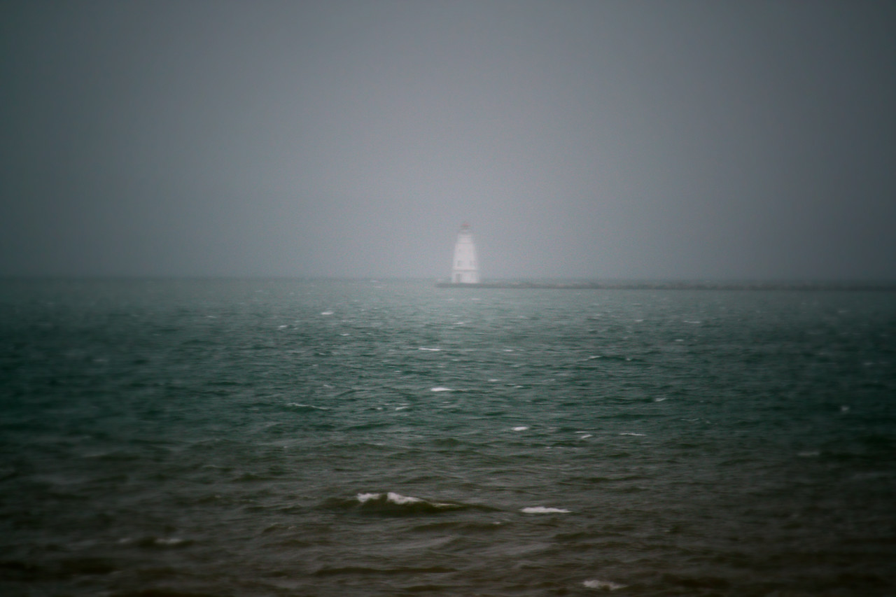 Ashland Breakwater In The Fog