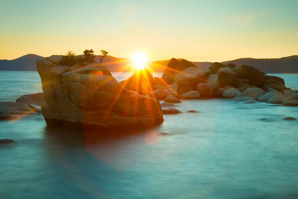 Bonsai Rock, Lake Tahoe Sunset