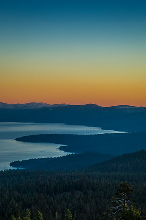 Martis Peak Lake Tahoe Sunset View