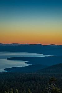 Martis Peak Lake Tahoe Sunset View