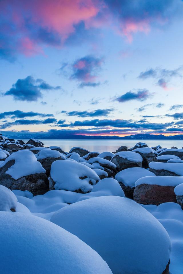 Hidden Beach Snow - Lake Tahoe