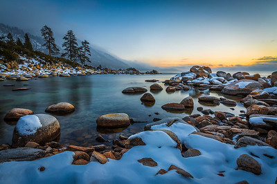 Hidden Beach Winter Sunset, Lake Tahoe