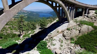 3-Donner Lake through arch, then above