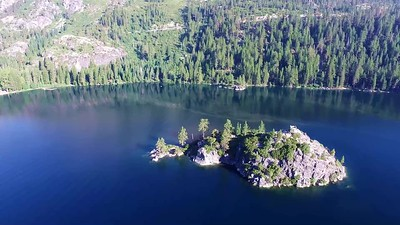 Baby drone appears over Emerald Bay