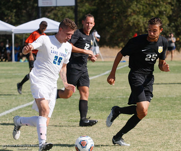 Lake Tahoe at Butte College men's soccer Tuesday September 27, 2016 in Oroville, Calif. (Emily Bertolino -- Mercury Register)