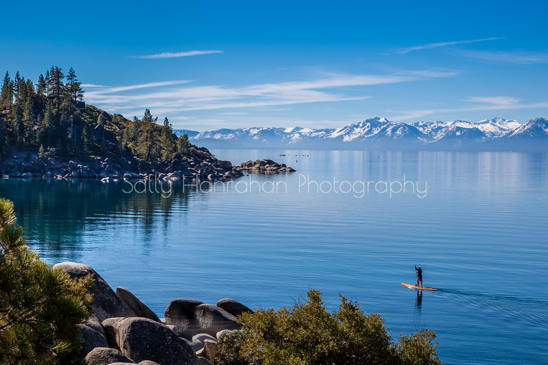 Lake Tahoe Spring and Paddle Boarder