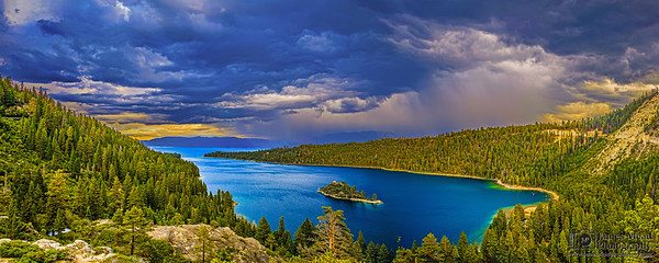 """Emerald Bay Squall Line,"" Emerald Bay, Lake Tahoe"