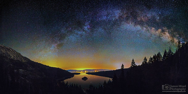 """Still of the Night,"" Emerald Bay Milky Way, Emerald Bay State Park, Lake Tahoe, California"