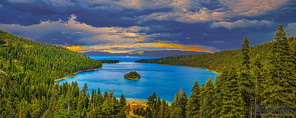 """A Storm Rolls In,"" Emerald Bay, Lake Tahoe, California"